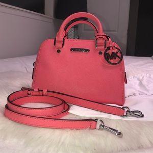 Brand new Michael Kors Small Pink Satchel Handbag